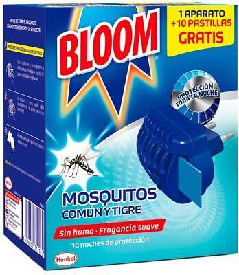 Bloom - Insecticida electrico mosquitos común y tigre aparato + 10 pastillas