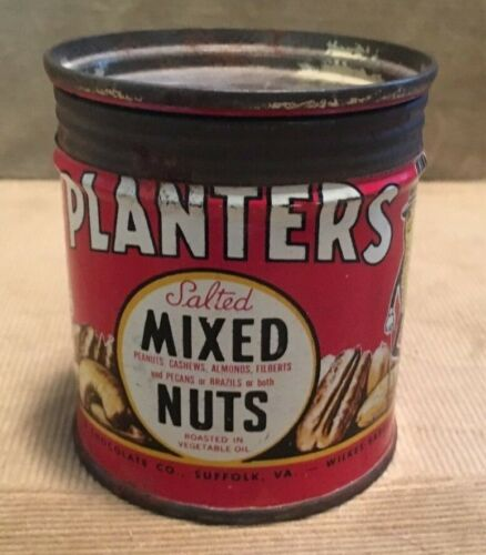 Vintage Planters Mixed Nuts Can 4 oz. 1944