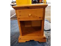 Pine Bedside Table x 1