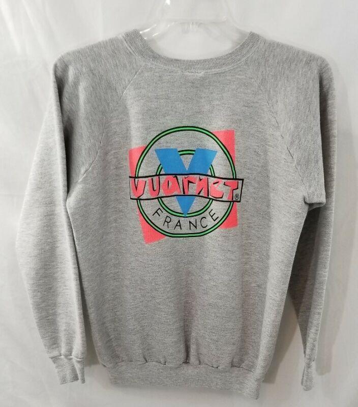 VTG Vaurnet France Gray Pullover Sweatshirt  XL