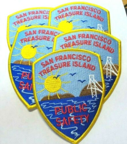 (5) Vintage SAN FRANCISCO TREASURE ISLAND PUBLIC SAFETY Patches Patch CALIFORNIA