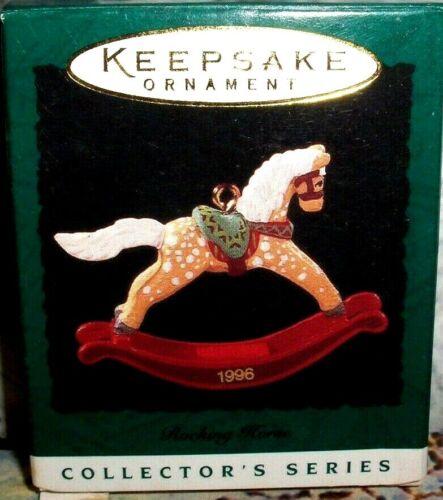 Rocking Horse`1996`Miniature-Rocking Horse Series Hallmark Tree Ornament->NICE