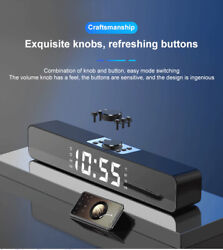 Bluetooth Speaker Outdoor Stereo Bass Digital LED Alarm Clock TF/FM Radio LOUD