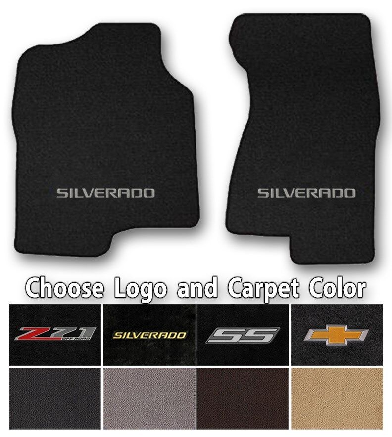 Silverado Classic Loop Carpet Floor Mats - Choice of Color & Logo - Z71 & Bowtie