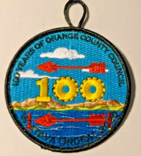 2020 Wiatava Lodge 13 Ordeal Patch 100 Years of Orange County Council California