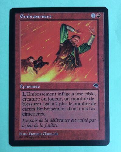 Mtg magic carte embrasement kindle ext tempÊte tempest 1997