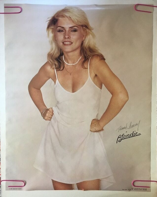 Blondie Vintage Poster Deborah Harry Pin-up 1970