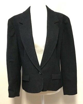 Flap Pocket Wool Blazer - Pendleton Womens 12 Blazer Jacket Virgin Wool Lined Single Button Flap Pocket