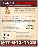 Famous Indian psychic reading