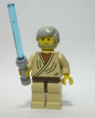 Obi-Wan Kenobi  OLD GRAY 7110 Star Wars Lego Minifigure Mini Figure