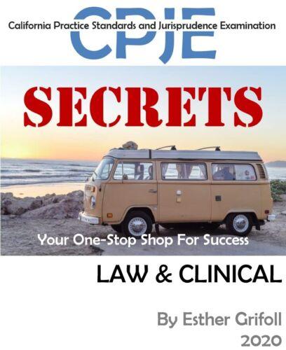 2020 CPJE SECRETS Study Guide. Complete LAW & CLINICAL (P.D.F.)