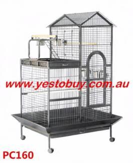 160cm Large Bird Cage Pet Parrot Aviary Budgie Perch Castor Wheel