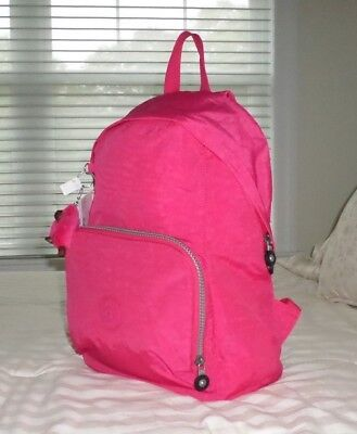 NWT Kipling RIDGE Book Bag Backpack VIBRANT PINK BP3989