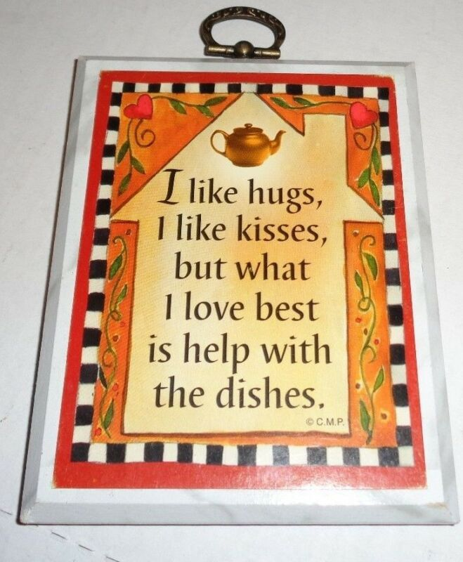 "Paula's Mini Impressions Humorous Wall Plaque 3.5"" x 4.5"""