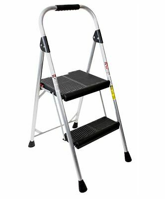Werner 2-step Aluminum Step Stool Folding Ladder Multi Purpose Stepladder New