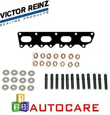 Victor Reinz Exhaust Manifold Gasket + Bolts And Washers For Opel 2.0 16V Turbo