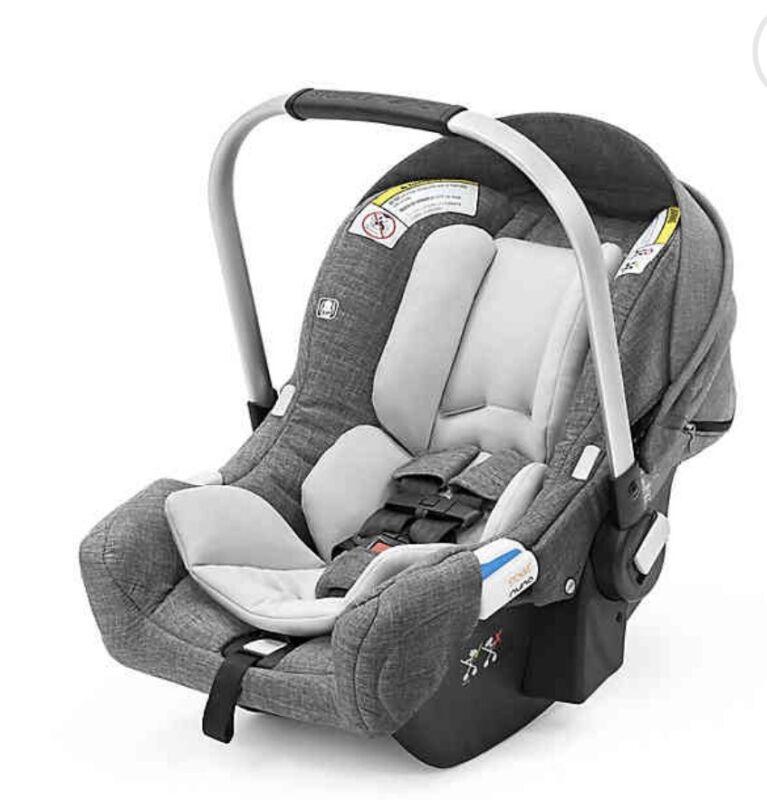 NIB Stokke/Nuna Pipa Infant Car Seat Black Malange With Extra Base