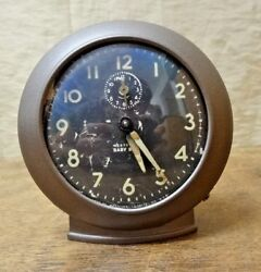 Antique Westclox Baby Ben 1940s 61V 2A Alarm Clock Soft & Loud