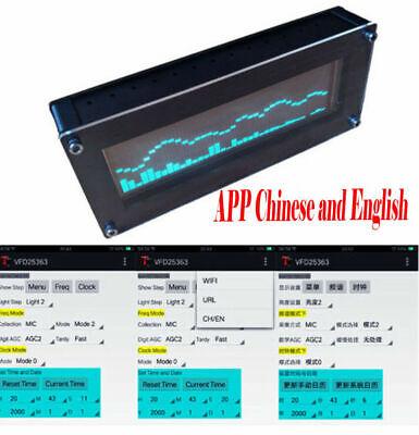 Wifi Android App Vfd Music Spectrum Indicator Clock Display Car Audio Amplifier