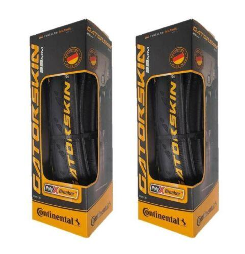 Set of 2, Continental Gatorskin 700 x 23c Folding Clincher Tires, 700 x 23mm