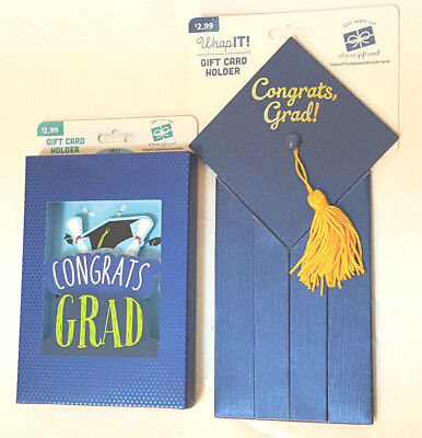 Congrats Grad Gift Card Holder - Graduation Money Holder - FREE SHIPPING
