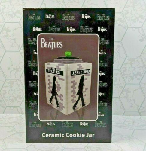 The Beatles Abbey Road Sculpted Ceramic Cookie Jar NEW