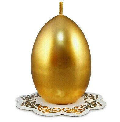 Easter Candle Unscented Wax Candle Gold Easter Egg Made Russia Paskha Golden Easter Egg