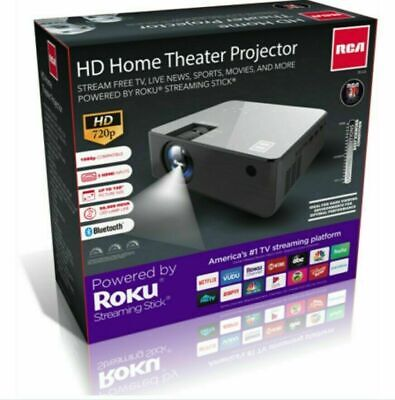 BRAND NEW IN BOX Rca 720p Roku Smart Home Theater Projector (RPJ133)