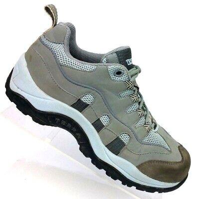 Composite-toe Sneaker (Terra Gray Composite Toe Safety Work Sneaker Lace Up Shoe Women's 6.5 / EU 37.5)