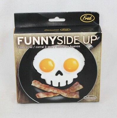 NEW Funny Side Up Fred Skull Fried Egg Mold  - Safe Silicon - Halloween Food](Good Halloween Food)
