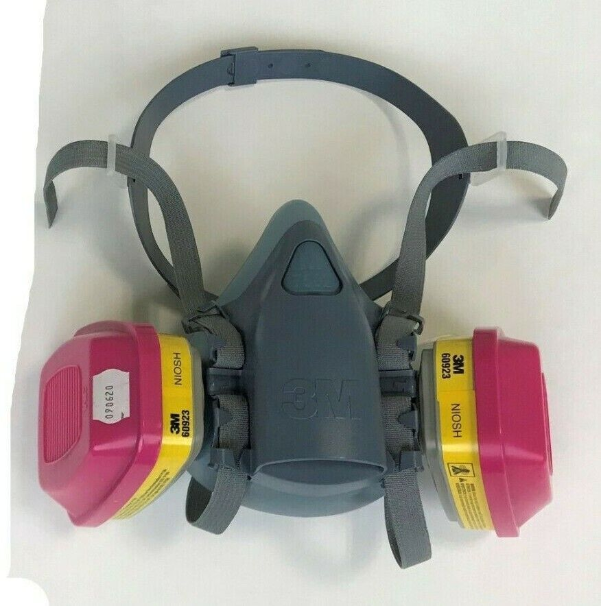 3M 7503 & 2 EA 60923 P1OO Organic Vapor/Acid Gas Multi-Purpose Respirator LARGE Business & Industrial