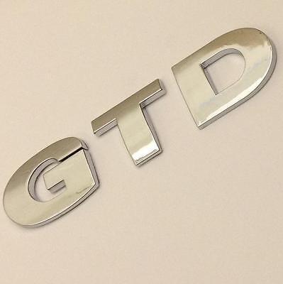 GTD Car Badge Emblem Logo VW Golf Passat CC Rear Boot Tailgate Sticker FSI TDI
