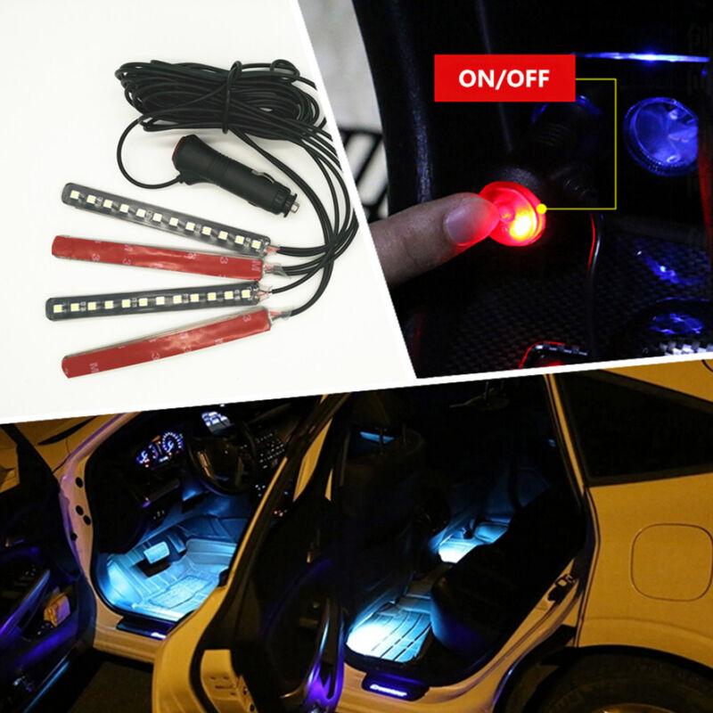 Car  Lec Blue LED Lamp Interior Trim Atmosphere Glow Decor Note Light Decoration