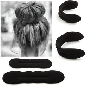 4pcs Magic Sponge Clip Foam Donut Hair Styling Bun Curler Maker Ring Twist Tool