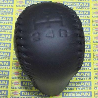 GENUINE NISSAN PATROL SAFARI GU Y61 BLACK LEATHER GEAR SHIFT LEVER KNOB OEM