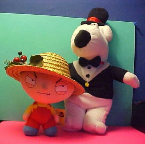 FAMILY GUY Brian and STEWIE GRIFFIN plush and Tux