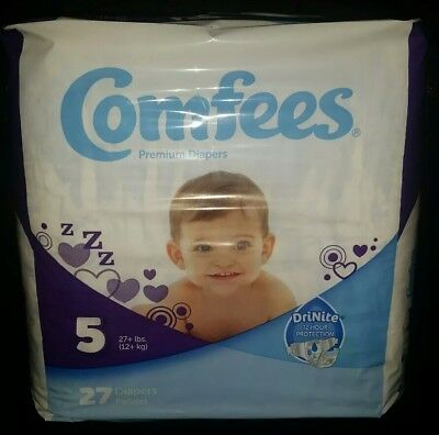Comfees Baby Diapers - Size 5, 27/PK
