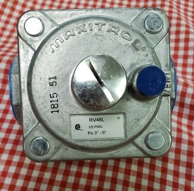 MAXITROL GAS REGULATOR FOR NATURAL GAS - RV48L, 3/4'' NPT, 3''- 6'' WC, 1/2 PSIG