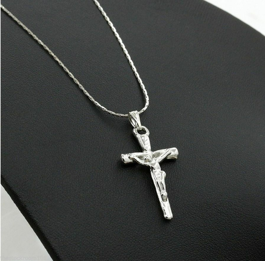 perfect gift unisex silver stainless steel jesus cross. Black Bedroom Furniture Sets. Home Design Ideas