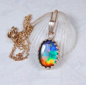 Genuine-Canadian-Grade-AA-Ammolite-Pendant-Rare-Colour-Palette-in-Gold-111616