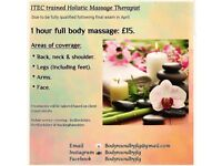 1 hour full body massage - £15 - Beds, Herts & Bucks