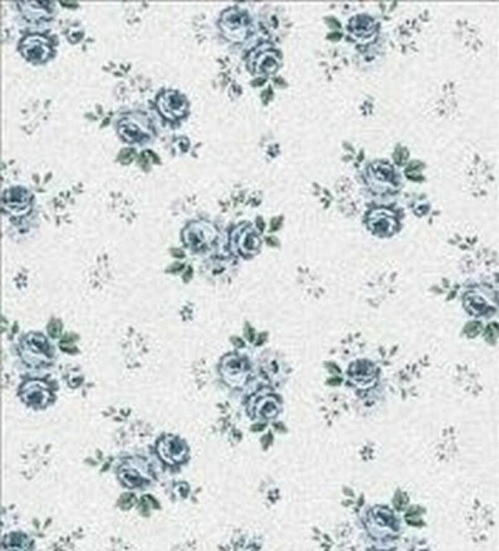 Dollhouse Wallpaper Rose Hill Small Floral Blue 1:24 Scale