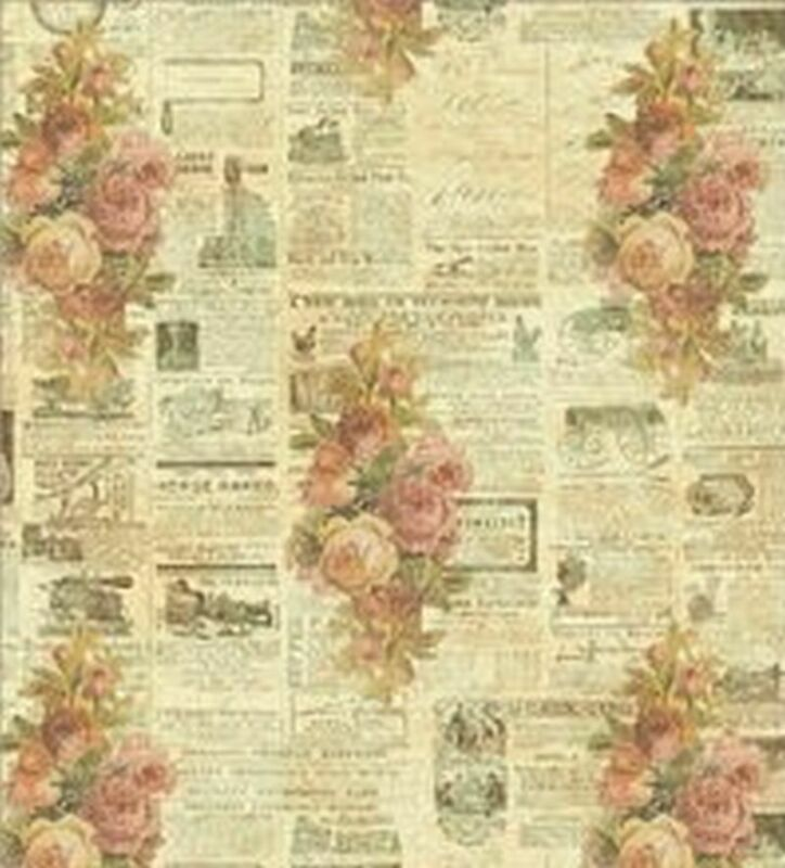 Dollhouse Wallpaper - Rose Newsprint 1:24 Scale