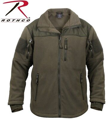Olive Drab Green Military Special OPS Tactical Fleece Jacket Rothco 96675