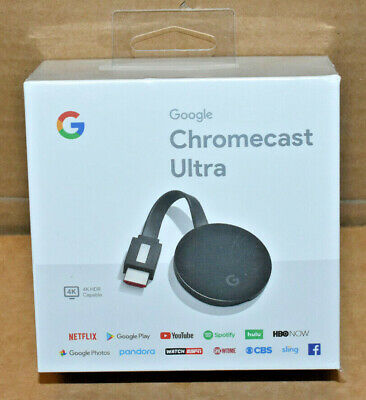 Brand New Google Chromecast Ultra 4K Digital Media Streamer GA3A00403A14 Sealed