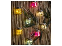 Firefly 8 x Glass Mason Jar LED String Solar Lights Solar Powered Outdoor Decor
