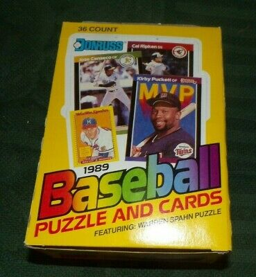 1989 DONRUSS  BASEBALL BOX 36 UNDISTURBED PACKS GRIFFEY ROOKIE