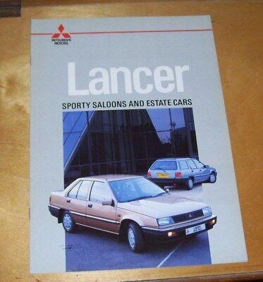 MITSUBISHI LANCER SPORTY SALOONS AND ESTATE CARS SALES BROCHURE Ref 1086