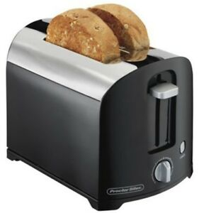 Proctor Silex 2 Slice Toaster , Black/Chrome