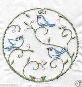 Blue Bird Embroidered